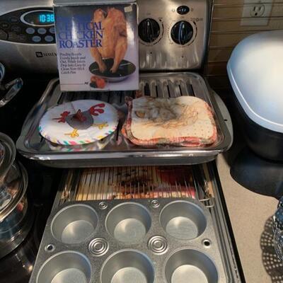 baking tins and mits