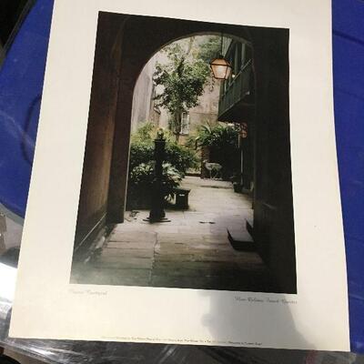 https://www.ebay.com/itm/124368506870LAR0049 Classic Courtyard Print New Orleans French Quarter Pickup Only ( 16