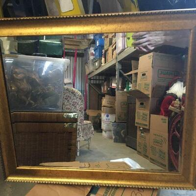 https://www.ebay.com/itm/124355465261LAR0030 Gold Framed Mirror with Rivited Trim Pickup Only ( 23