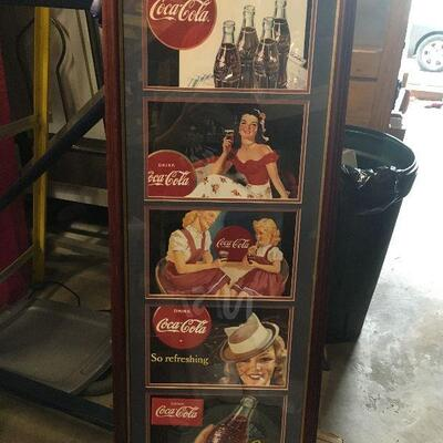 https://www.ebay.com/itm/124368327412LAR0033 Coca Cola Collage, 5 Pictures of 4 Women Wooden Framed Pickup Only Pickup Only ( 16