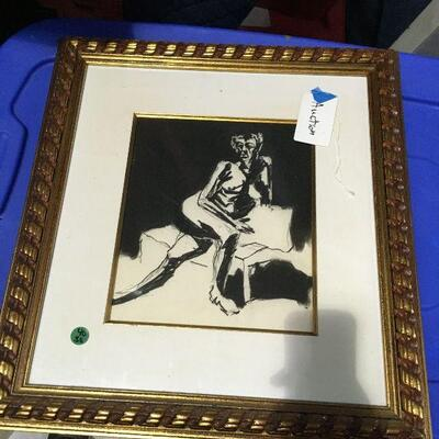 https://www.ebay.com/itm/124368518402LAR0057 Nude with Pin and Ink Framed Art Pickup Only ( 18