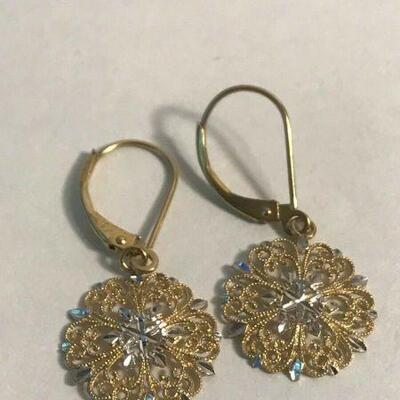 https://www.ebay.com/itm/124367458719WL123 DELICATE FILIGREE DANGLE EARRINGS 14K GOLD100Buy-It-Now