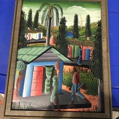https://www.ebay.com/itm/114448973796LAR0052 Carrabin Village Oil on Canvas E Tienne Framed Pickup Only ( 14