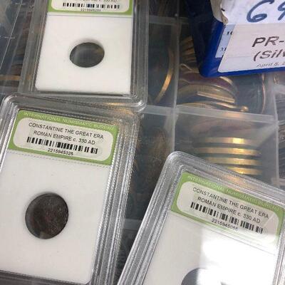 LAR9003 Slabbed Ancient Coins $10 Each