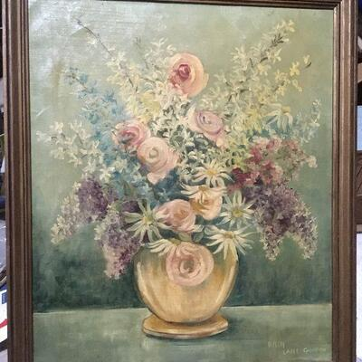 https://www.ebay.com/itm/114448991987LAR0060 Helen Lane Gleaton Still Life Oil and Canvas Pickup Only ( 22.5
