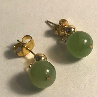 https://www.ebay.com/itm/124367464026WL128 JADE BALL DANGLE EARRINGS 14 K GOLD125Buy-It-Now