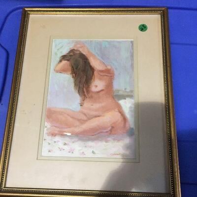 https://www.ebay.com/itm/124368519123LAR0058 Cane - Nude Watercolor Framed Art Pickup Only ( 13.25