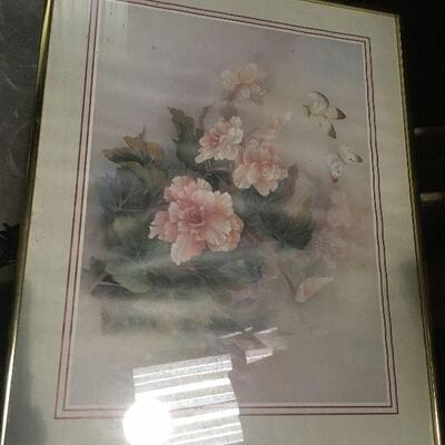 https://www.ebay.com/itm/114448764932LAR0037 Pink Flowers and Butterfly Print Framed Pickup Only ( 20.5