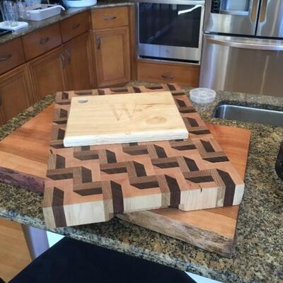 Geometric cutting board is sold, but all other items are available!