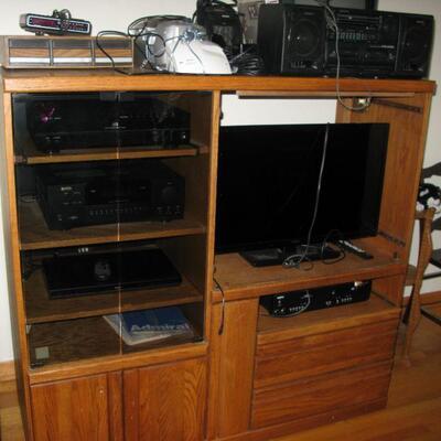 oak entertainment center   buy it now $ 65.00