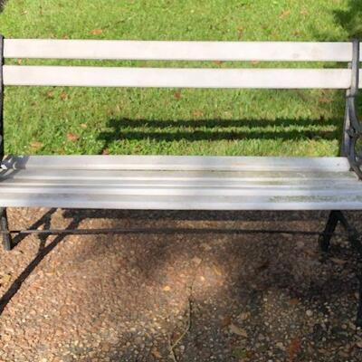 https://www.ebay.com/itm/124375568962LRM2303 Antique Heavy Wrought Iron Bench Pickup OnlyBuy-It-Now $95.00