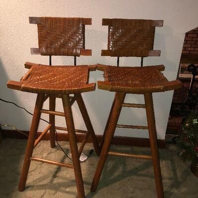 https://www.ebay.com/itm/114454782658TL0003 Rattan and Wood Mid Century Bar Stools 2 Pickup OnlyBuy-It-Now $150.00
