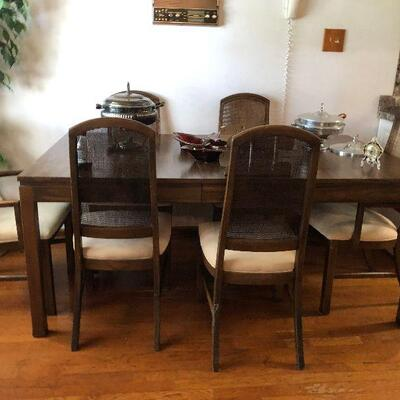 https://www.ebay.com/itm/114454778564TL0002 Mid Century Modern Table with 6 Cane Back Chairs Pickup OnlyBuy-It-Now $350.00