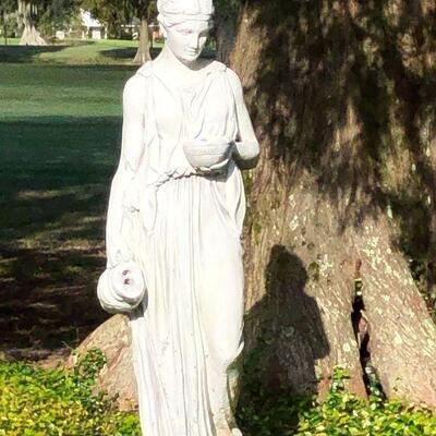 https://www.ebay.com/itm/124375451096TL0001 About 4 Foot Tall Cement Statue White Pickup OnlyBuy-It-Now $750.00