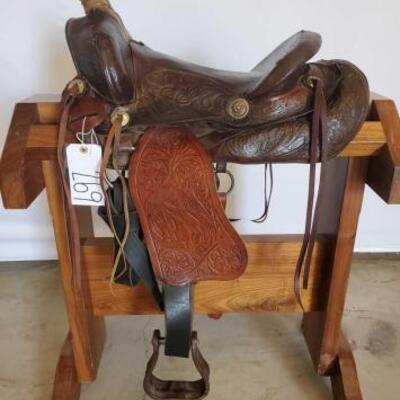 269  Vintage Cowboy Saddle 14