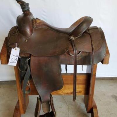 231  Ozark Western Roping Saddle 16