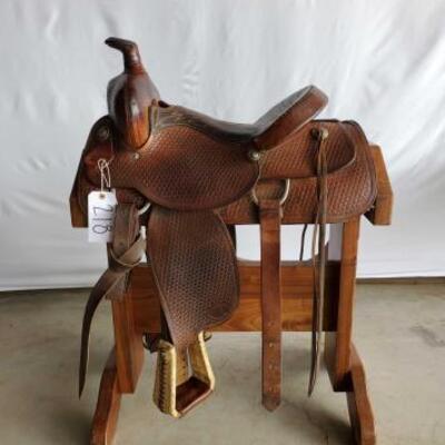 218  Hereford Roping Saddle 15 1/2