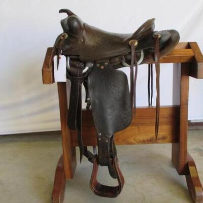 205  Custom Vintage Ranch Western Saddle Custom Vintage 15