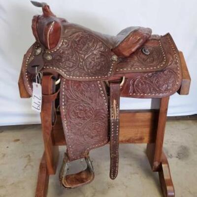 279  Cowboy Western Saddle 15 1/2