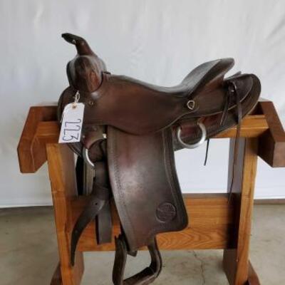 223  Vintage Bear Valley Western Saddle 15