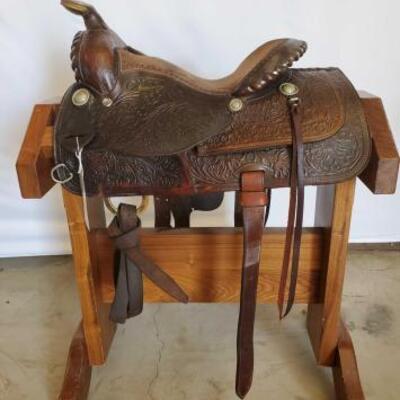 268  Vintage Simco Western Saddle 14 1/2