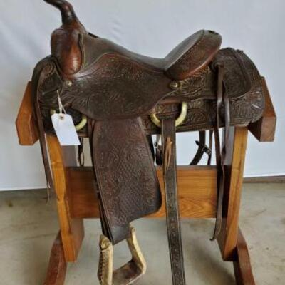 234  Ozark Western Roping Saddle 15