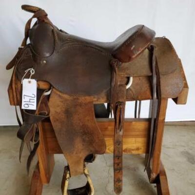 246  Western Roping Saddle 16
