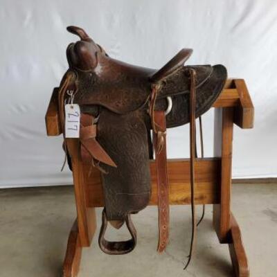 217  Vintage Buck Steiner Ranch Saddle 14