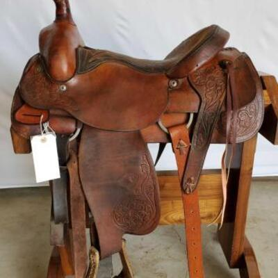 228  Hereford Brand Roping Saddle 16