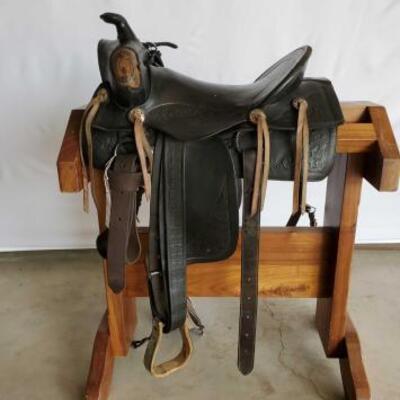 222  Vintage Cowboy Saddle 15