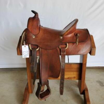 226  Western A Fork Saddle 15