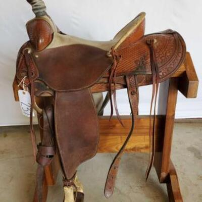 237  KM Saddlery Rope Saddle 16