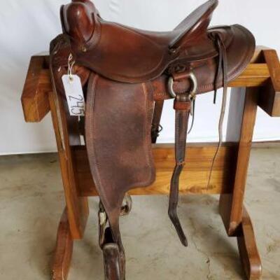 245  Vintage Buckaroo Western Saddle 14