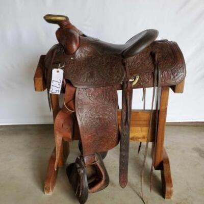 225  Vintage Western Buck & Knapp Custom Saddle 15