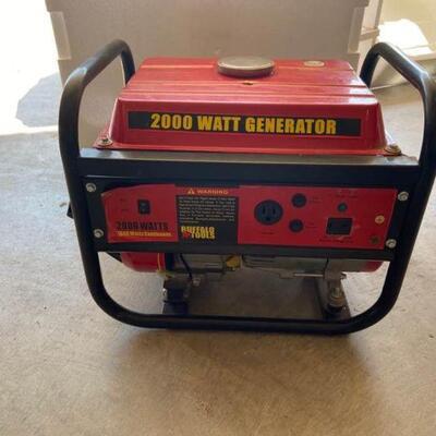 2000 Watt Gas Powered Generator
