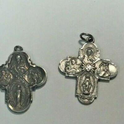 https://www.ebay.com/itm/114484177098WL172  STERLING SILVER LOT OF 4 RELIGIOUS PENDANTS  Auction