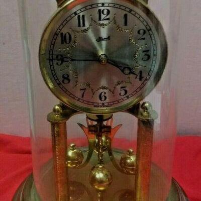 https://www.ebay.com/itm/124377648258LX3031 10 INCH HIGH USED VINTAGE HERMLE WIND UP BRASS CLOCK WITH GLASS DOME  $23.00  Buy-It-Now