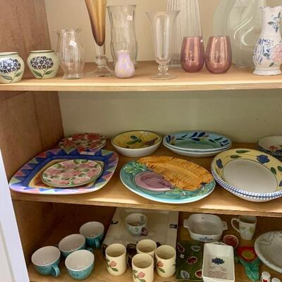 Glass Vases & Ceramic Serving Platters and More...