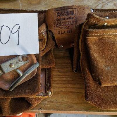 #609 Leather tool belt $65