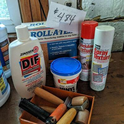 #484 Wall repair kits. Spackle, wallpaper remover and more $8