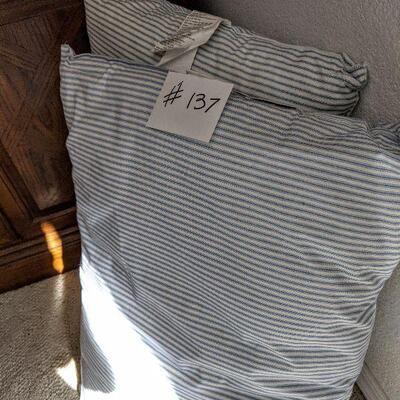 #137 2 standard pillows $5