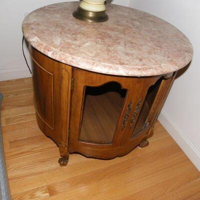 ' VIntage Marble top end tables