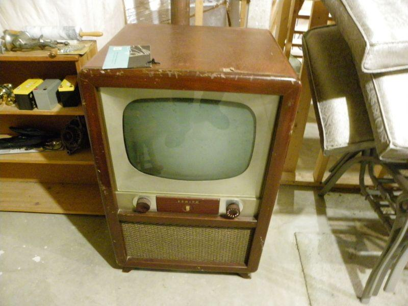 """1950's Black and White TV set."