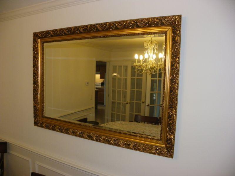 """ Stunning 52 x 32 inch mirror vintage'.real frame."