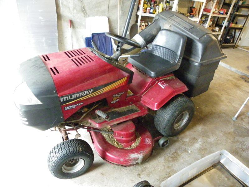 rebuilt motor and belts/ Murray riding lawn mower.