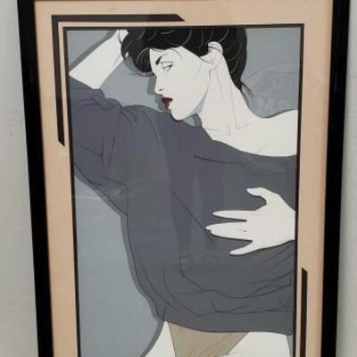 506 Vintage Patrick Nagel Limited Art Print Measures Approx 30