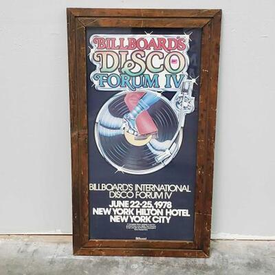 508 Framed Billboards Disco Forum IV Poster Measures Approx 18