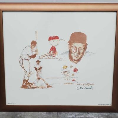 420 Charlie Brown and Stan Musial baseball painting Rare signed picture, Stan Musial and Charlie Brown. 20