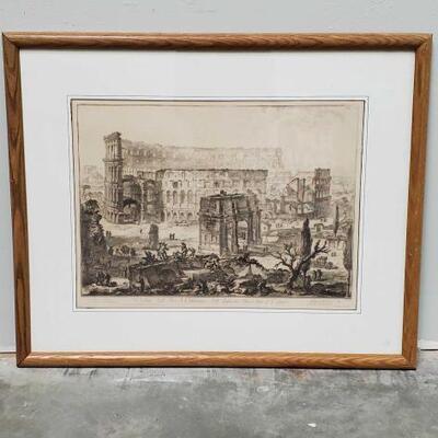 518  Veduta dell' Arco di Costantino, e dell' Anfiteatro Flavio detto il Colosseo Measures Approx: 32