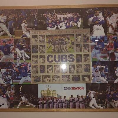 Cubs World Series Collage and Frame